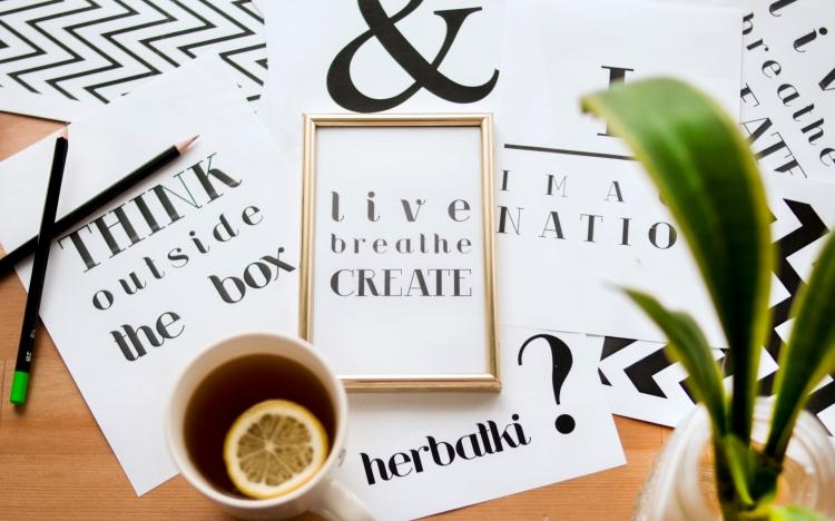 pics of words and lemon tea